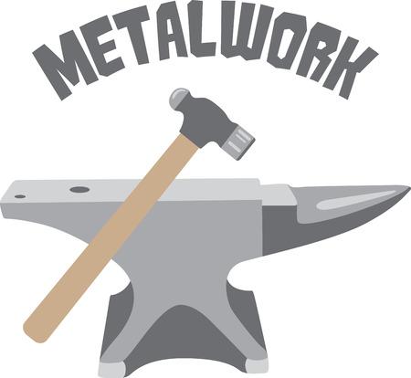 Ambachtslieden zullen graag een aantal tools zoals een logo op een schort voor hun werk. Stockfoto - 43918375