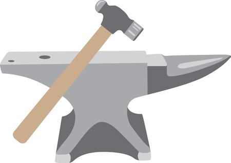 職人が自分の仕事のエプロンのロゴとしていくつかのツールのような。