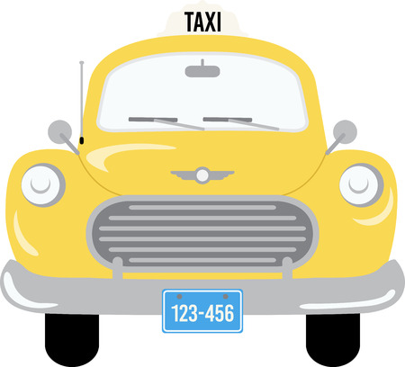 new york taxi: A great vibrant design on gifts for friends or family who are hopelessly retro!