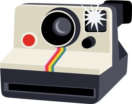 Grunge Camera Vector : Polaroid camera stock illustrations cliparts and royalty free