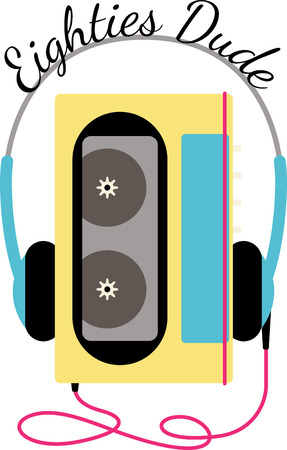 walkman: A great vibrant design on gifts for friends or family who are hopelessly retro!  Will look perfect on throw pillows, framed embroidery or wherever your imagination takes you!