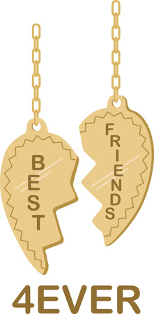 heartwarming: This heartwarming design will make a great keepsake for best friends on framed embroidery, t-shirts, sweatshirts, towels and more. Illustration