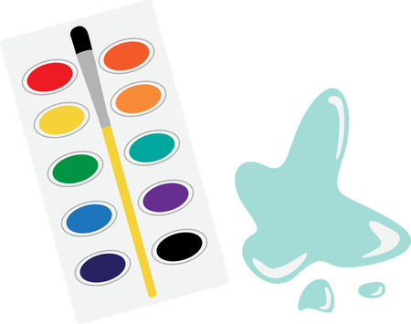 Wield your imagination and use this colorful and elegant design on clothing for your painting enthusiasts!