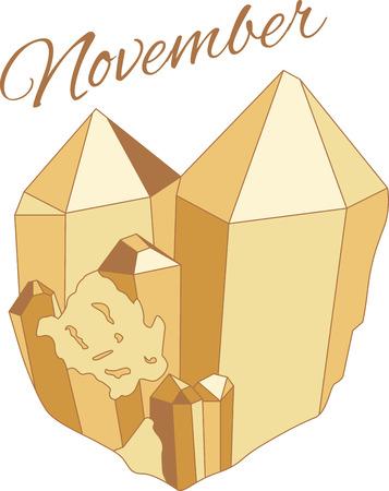 Dit ontwerp zal een grote toevoeging aan uw geboortesteeninzameling van borduurwerkontwerpen maken. Maak een cadeau voor elke verjaardag van de geboren november!