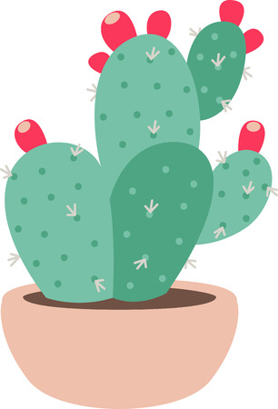 prickly pear: Plants add unique style and cheer to any space.  Get the spirit of spring on your projects with this design.