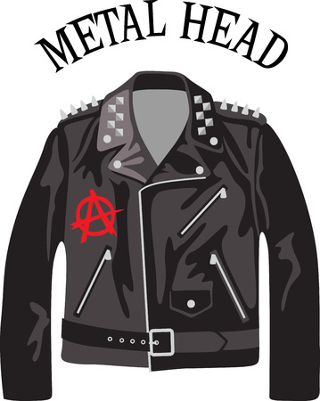 leather coat: Rock on the wild side! Stitch this cool  design on shirts, bags, and more for your rock stars.