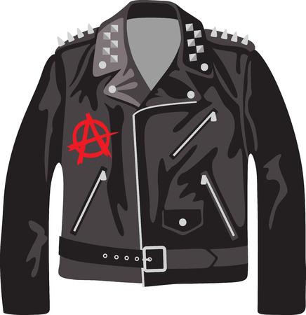 Rock aan de wilde kant! Steek dit koele ontwerp op overhemden, zakken, en meer voor uw rocksterren. Stock Illustratie