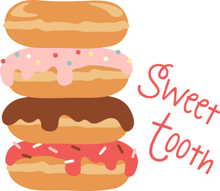 Use this donut stack for a yummy treat Illustration