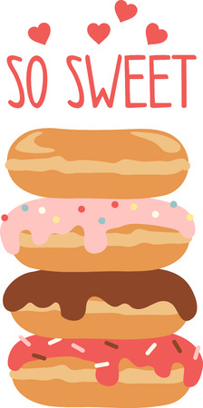 Use this donut stack for a yummy treat Ilustração