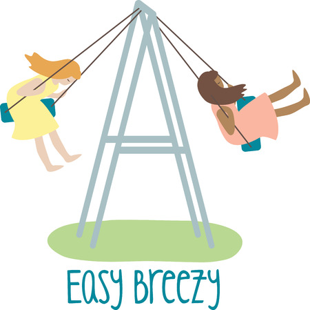 This snazzy swing set will keep your kids busy for hours on end.