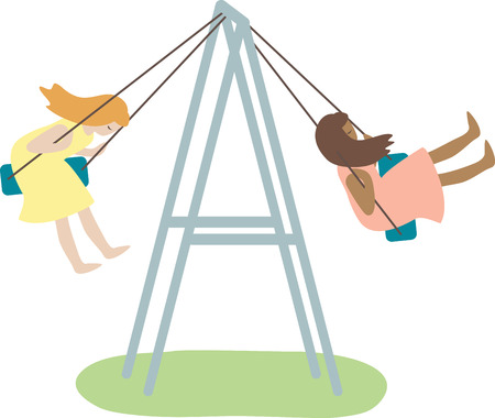 swing set: This snazzy swing set will keep your kids busy for hours on end.