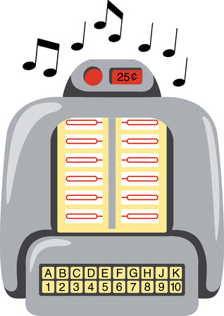 Use this retro jukebox for spinning out classic musical tunes.