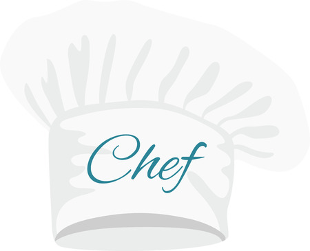 Spice up your kitchen decor and chefs apparel with this design on kitchen linen, chef coats, apron and hats. Ilustração