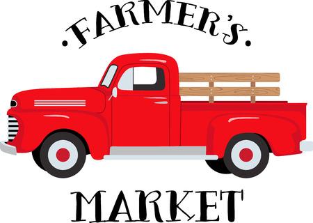 고전 농장 트럭은 모든 연령의 차량 애호가를 만족시킬 것이다! T 셔츠와 스웨터에 대한 좋은 디자인. 스톡 콘텐츠 - 43918706