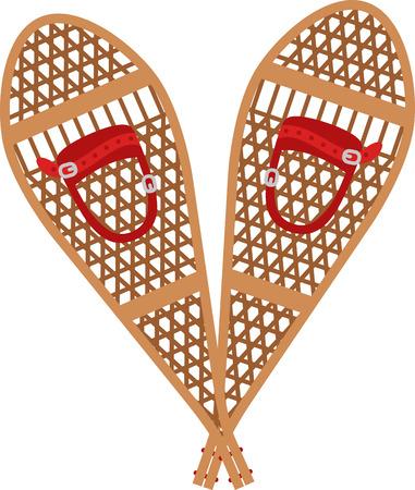 Utilice estas raquetas de nieve para una gran experiencia de esquí! Foto de archivo - 43918761