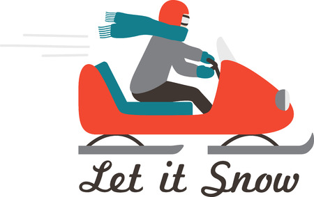 Make a winter time sporting project with a fast snowmobile.