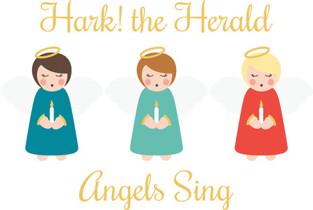 hark: Angels are a wonderful decoration for Christmas.