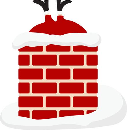 선물을 배달하는 산타는 즐거운 휴일 장식입니다.