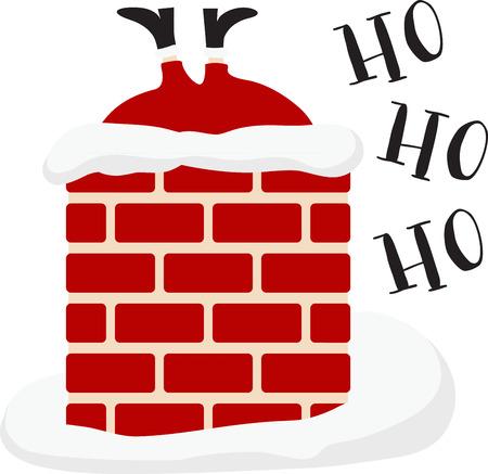 산타 제공하는 선물은 즐거운 휴일 장식입니다.