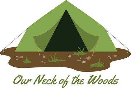 Maak een leuke tent naar een camping avontuur.