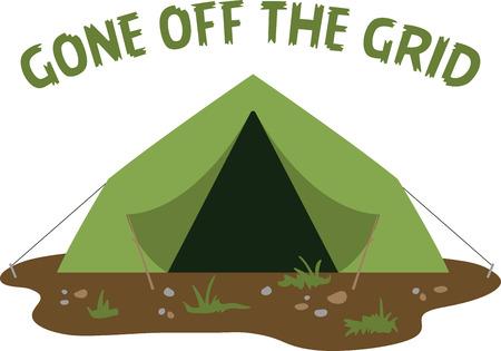 Maak een leuke tent voor een kampeeravontuur.