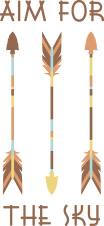 indian weapons: Colorful arrows will make a great Indian design.