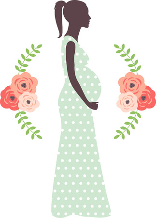 Let a mother to be show off her joy with this design on a shirt.