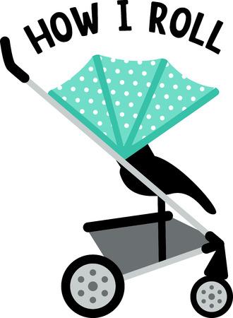 perambulator: Decorate a nursery with baby items.