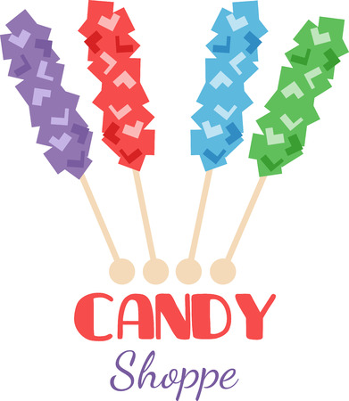 Kids love to snack on candy. Illustration