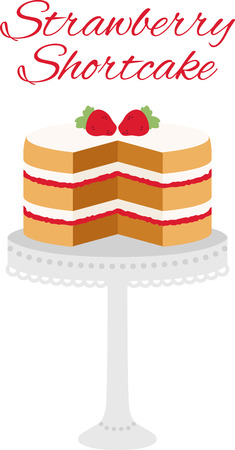 shortcake: Every chef and cook will love a delicious cake in their kitchen. Illustration