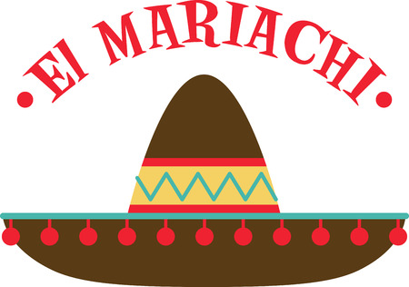 Everyone looks forward to the fiesta with music, laughter and fun.  Use this design on a shirt or hat to join in with the festivities.  Everyone will love it!