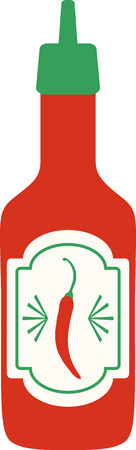 tabasco: Accent your kitchen with delicious foods. Illustration