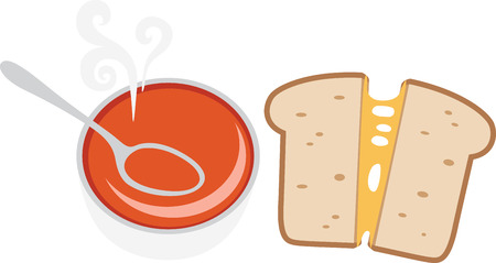 melted cheese: Accent your kitchen with delicious foods. Illustration