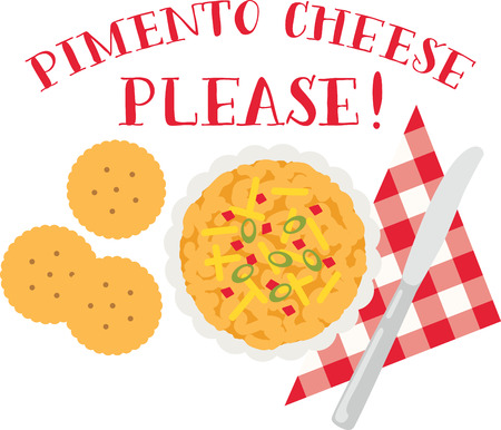 pimento: Accent your kitchen with delicious foods. Illustration