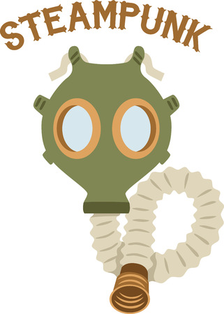 contamination: A gas mask is a funny way to change a babys diaper.