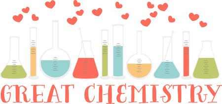 Als u van wetenschap houdt zult u van deze kleurrijke bekers. Stock Illustratie