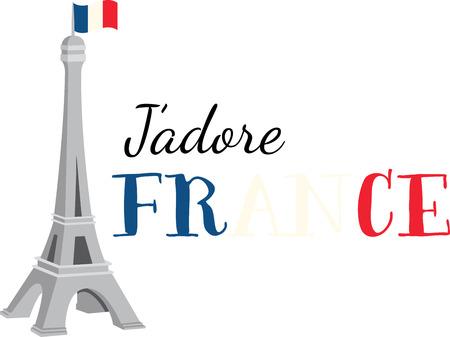 この美しいフランスの主題は、あなたの次のデザインの美しいイメージです。  イラスト・ベクター素材