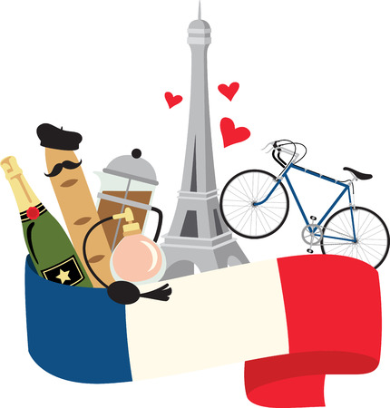 This beautiful French theme is a beautiful image for your next design.