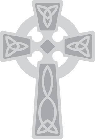Questa bella croce celtica irlandese è una bella immagine per il vostro prossimo progetto. Archivio Fotografico - 43977334