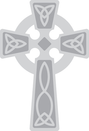 knotwork: This beautiful Irish Celtic cross is a beautiful image for your next design. Illustration
