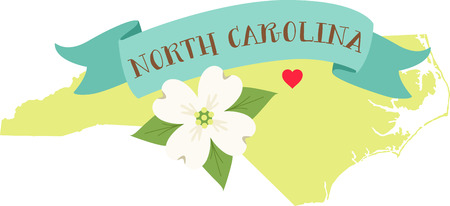 Show your love for your favorite state and its flower. Ilustrace