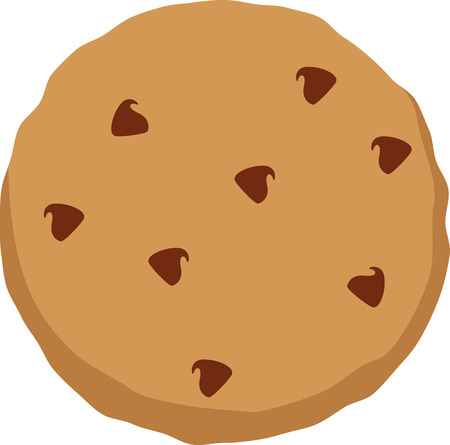 chocolate cookie: Everyone enjoys a chocolate chip cookie snack. Illustration