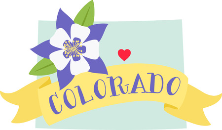 Show your love for your favorite state and its flower. Illustration