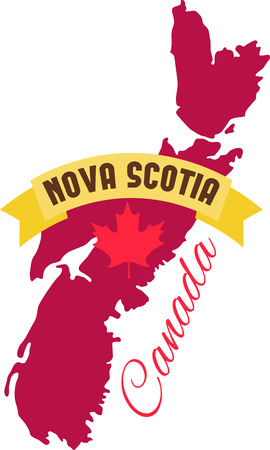 nova: Learn all you wanted to know about Nova Scotia Canada Map Maple leaf with pictures