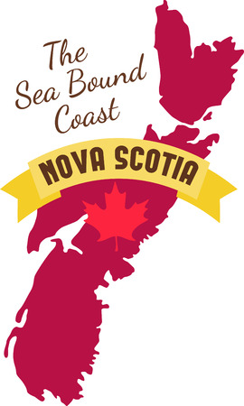 nova scotia: Learn all you wanted to know about Nova Scotia Canada Map Maple leaf with pictures