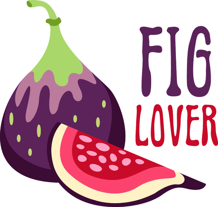Figs are good to eat or to use in your next meal.  Use this image to bring inspiration to your kitchen! Ilustrace