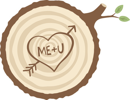 love tree: Carve a message of love in a tree for your valentine.