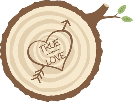 wooden circle: Carve a message of love in a tree for your valentine.