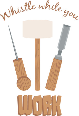 chiseled: occupational equipment Illustration