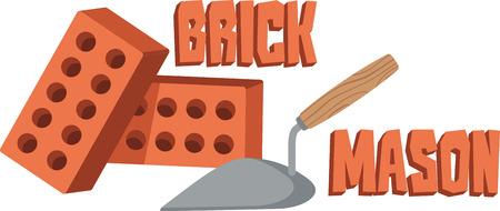 Brick mason Illustration